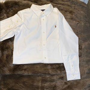 Long sleeve polo dress shirt (boys)